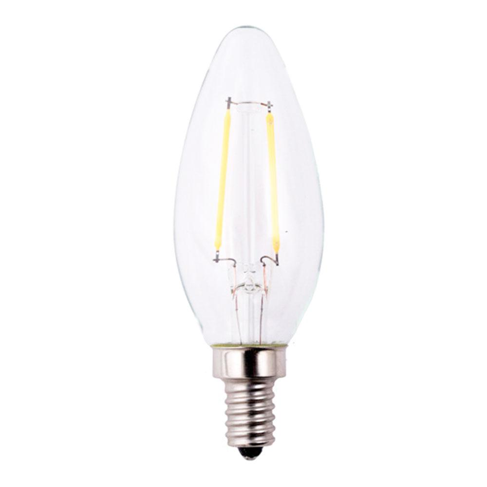 25W Equivalent Soft White B11 Dimmable Filament E12 LED Light Bulb
