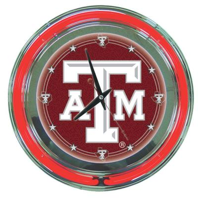 14 in. Texas A&M University Neon Wall Clock