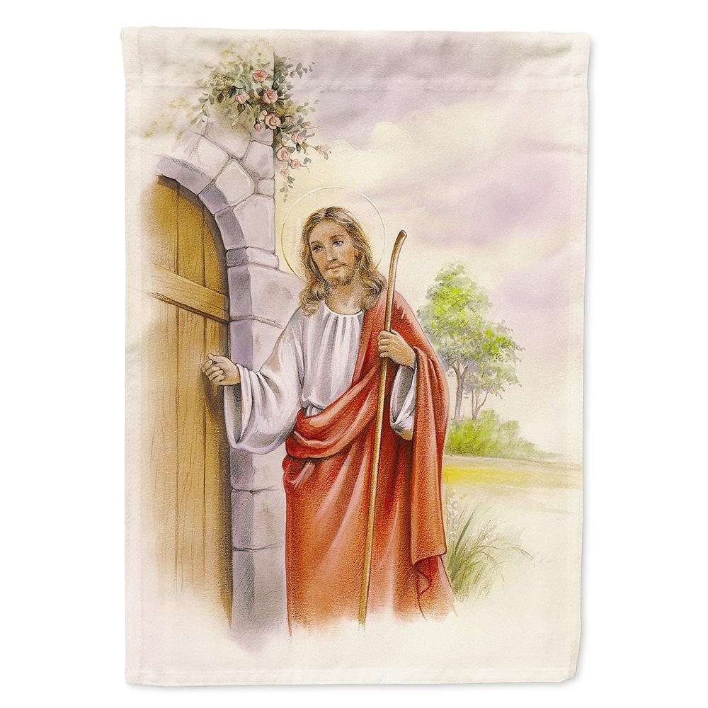 Caroline's Treasures 11 in  x 15-1/2 in  Polyester Jesus Knocking at the  Door 2-Sided 2-Ply Garden Flag