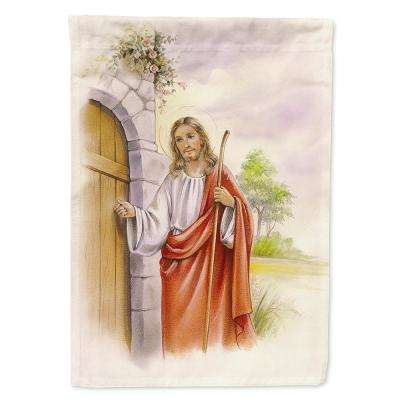 11 in. x 15-1/2 in. Polyester Jesus Knocking at the Door 2-Sided 2-Ply Garden Flag
