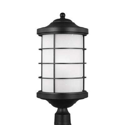 Sauganash 1-Light Outdoor Black Post Light with LED Bulb