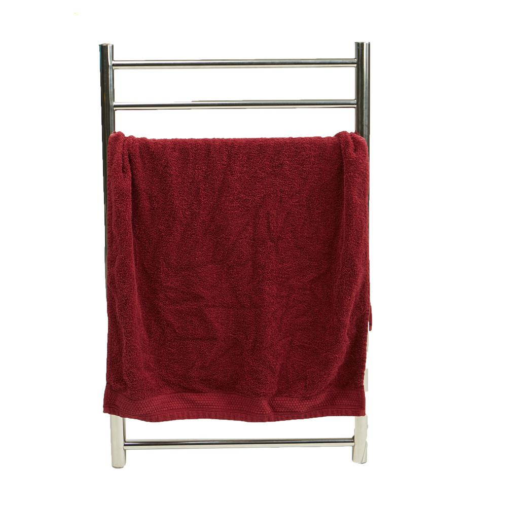 Mind Reader 20.56 in. W x 33.81 in. H 100-Watt Silver Metal Electric Heated Towel Stand Clothing Rack