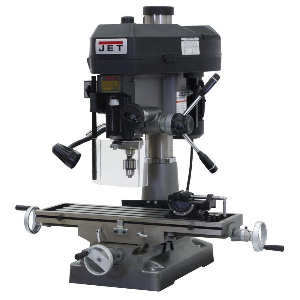 2 HP Milling/Drilling Machine with R8 Taper and Worklight, 12-Speed,