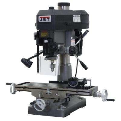 2 HP Milling/Drilling Machine with R8 Taper and Worklight, 12-Speed, 115/230-Volt, JMD-18