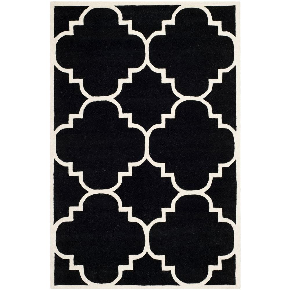 Chatham Black/Ivory 5 ft. x 8 ft. Area Rug