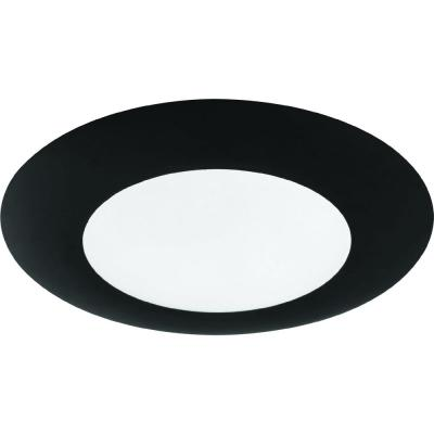 1-Light Integrated LED Indoor/Outdoor Black Surface Mount or Wall Mount with Sealed Frosted Polycarbonate Lens Cover