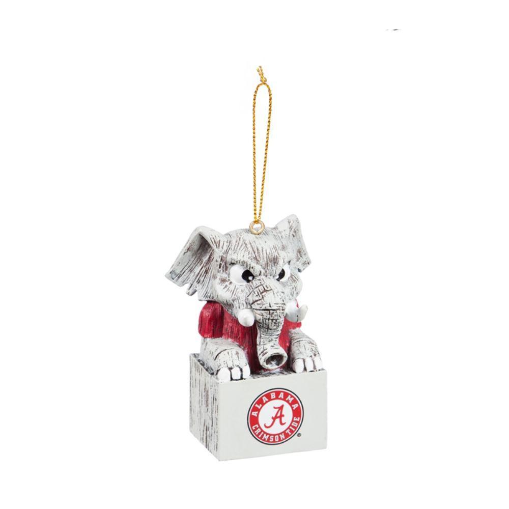 University of Alabama 1-1/2 in. NCAA Mascot Tiki Totem Christmas Ornament