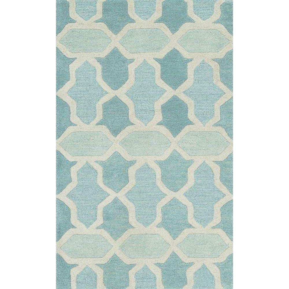 Loloi Rugs Weston Lifestyle Collection Aqua 2 ft. 3 in. x 3 ft. 9 in. Accent Rug