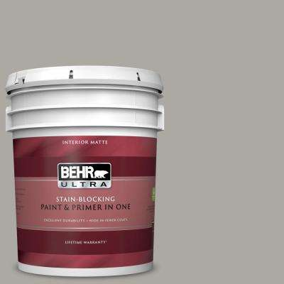 5 gal. #PPU24-10 Downtown Gray Matte Interior Paint and Primer in One