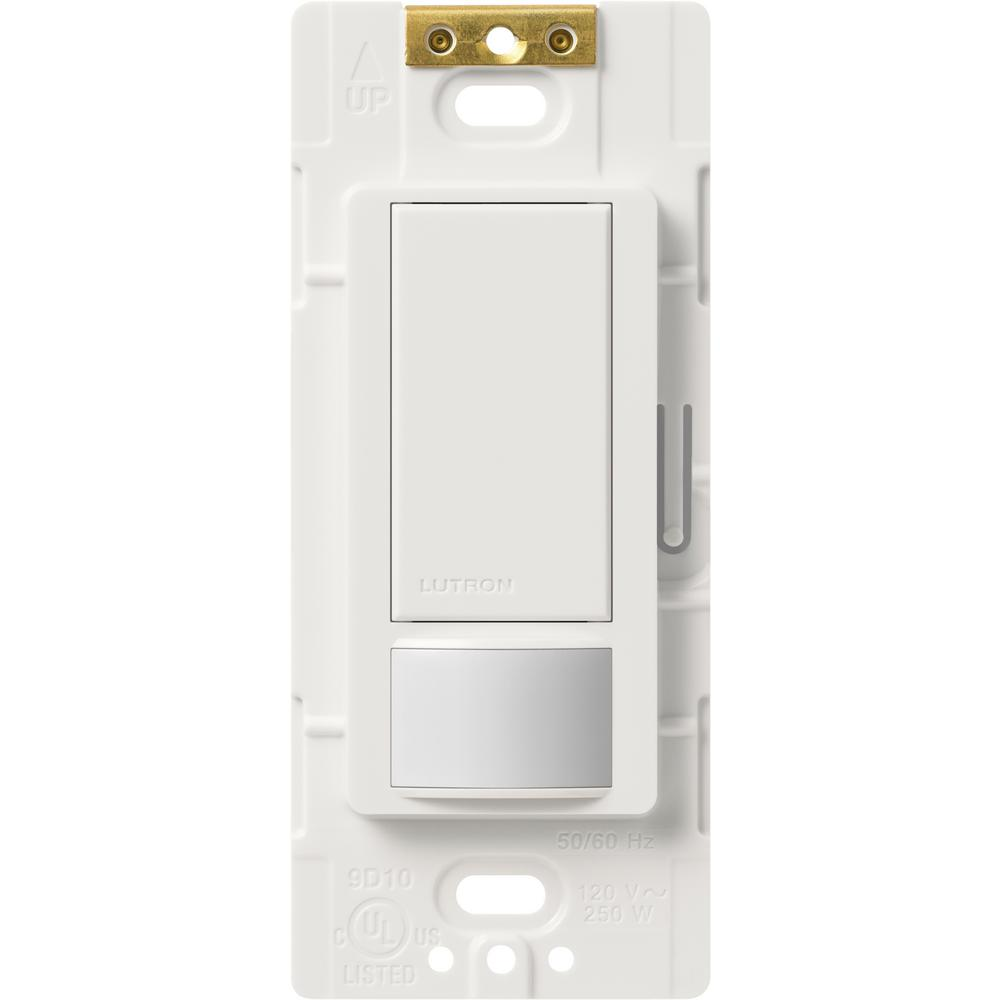white lutron motion sensors ms vps2h wh 64_1000 lutron maestro vacancy sensor switch, 2 amp, single pole, white ms Leviton Dimmer Switch Wiring Diagram at n-0.co