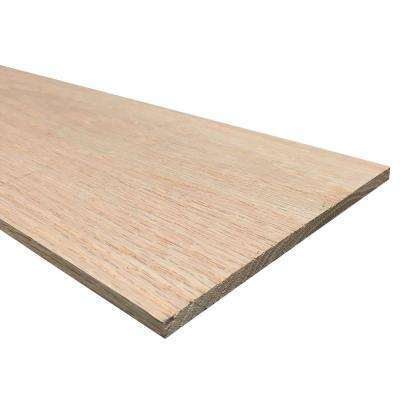 1/4 in. x 6 in. x 3 ft. S4S Oak Board