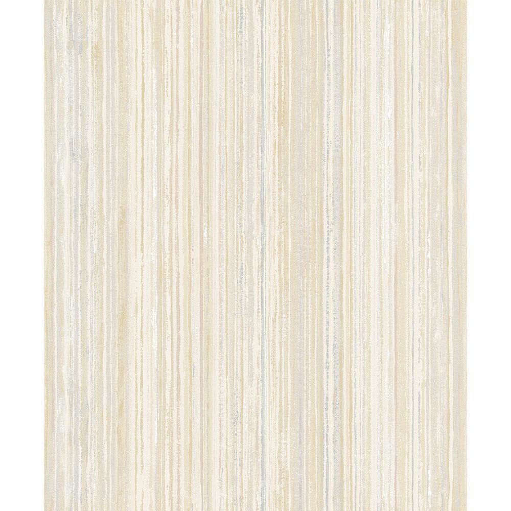 8 in. x 10 in. Grace Yellow Stripe Wallpaper Sample