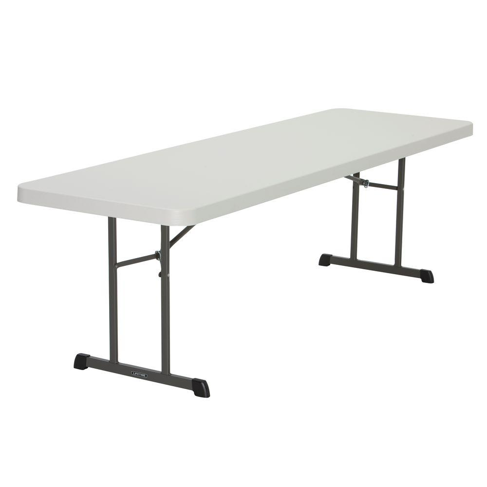 Lifetime 96 in. Almond Plastic Folding Banquet Table