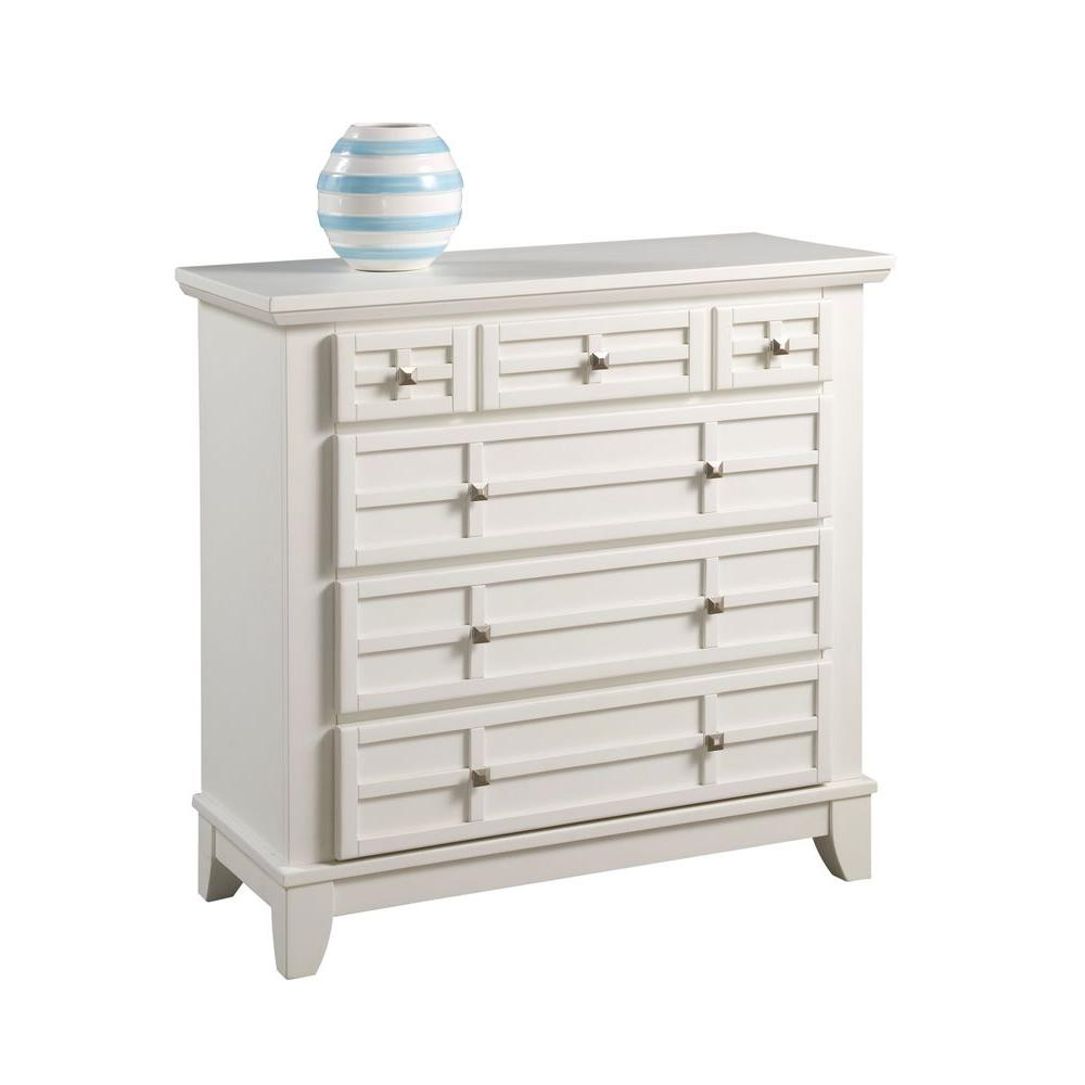 Arts and Crafts 4-Drawer White Chest