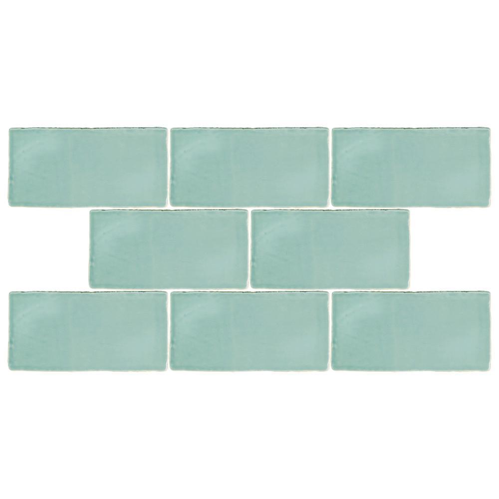 Nice 12X12 Acoustic Ceiling Tiles Thin 12X24 Ceramic Tile Flat 150X150 Floor Tiles 16X16 Ceramic Tile Youthful 18 Ceramic Tile Soft2 By 4 Ceiling Tiles Aqua   3x6   Ceramic Tile   Tile   The Home Depot
