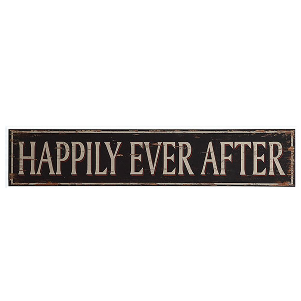 "10 in. H x 50 in. W ""Happily Ever After"" Wall Art"
