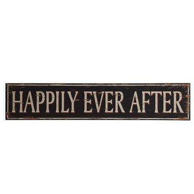 """10 in. H x 50 in. W """"Happily Ever After"""" Wall Art"""