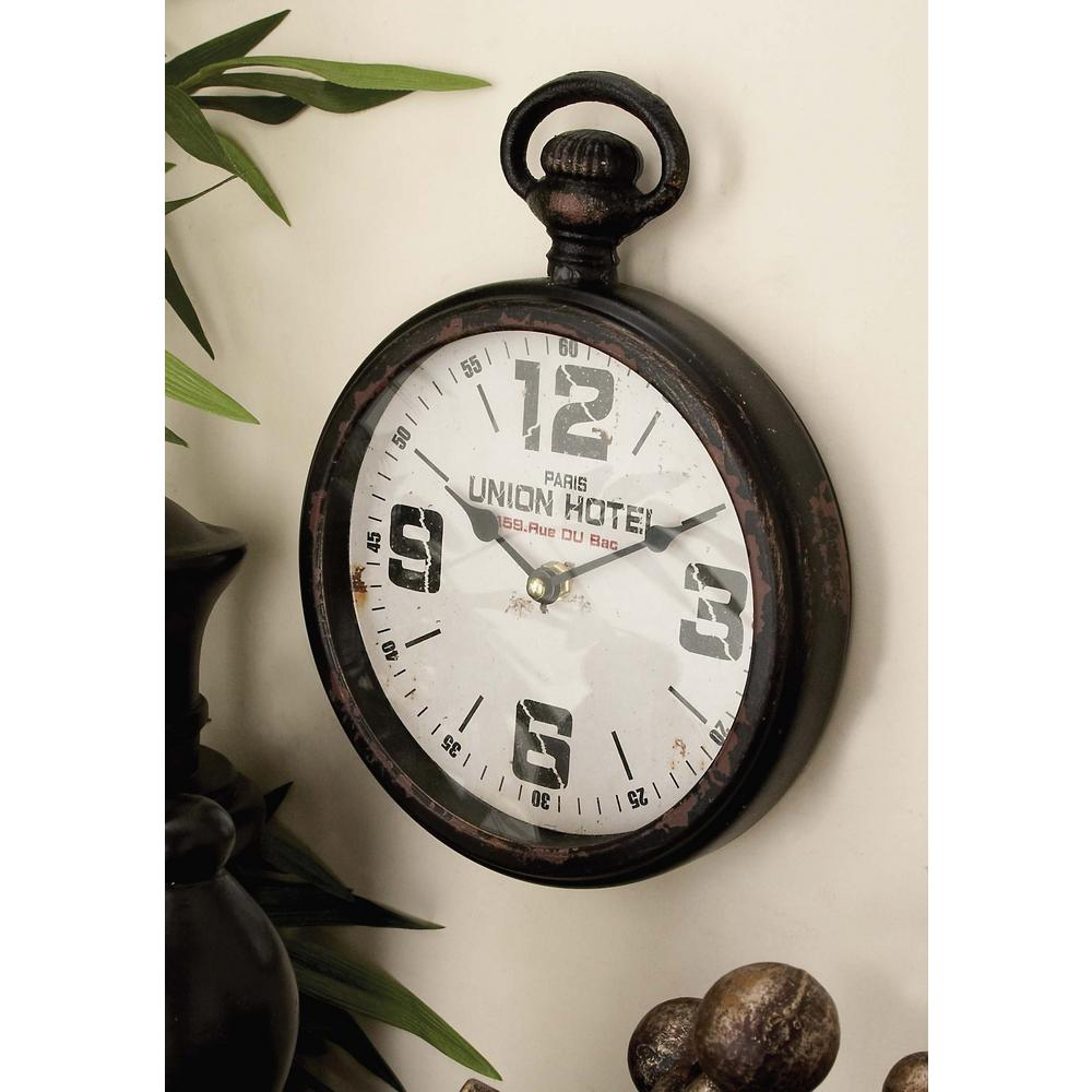 2 assorted 11 in x 8 in bistrot de paris and union hotel bistrot de paris and union hotel pocket watch style wall clocks amipublicfo Images