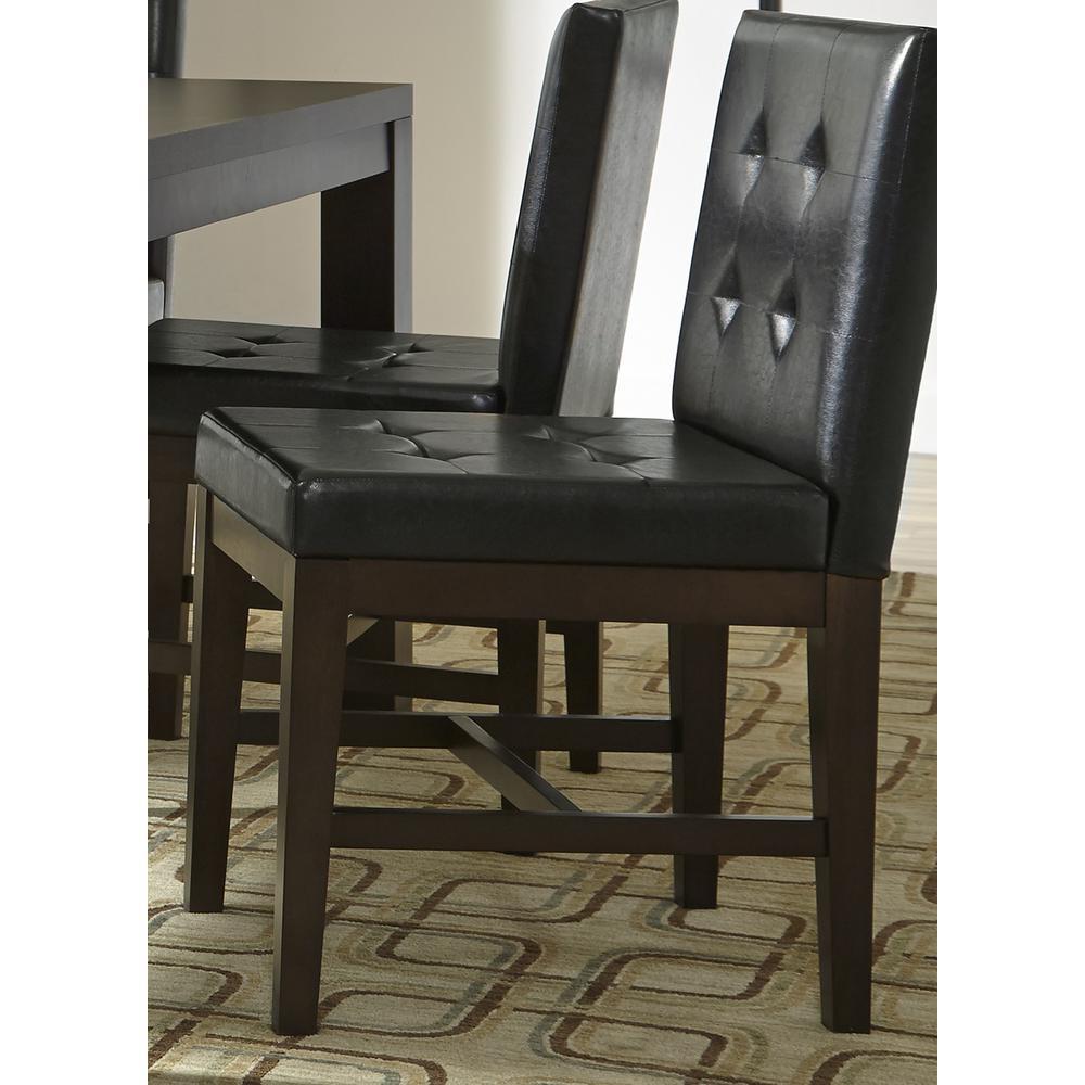 Athena Dark Chocolate Upholstered Dining Chairs (2/ctn)