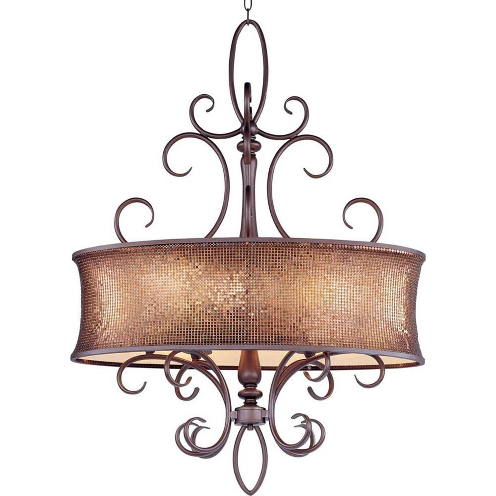 Maxim Lighting Alexander 6 Light Umber Bronze Pendant