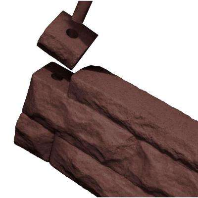 10 in. Polyethylene Garden Wizard Border Finish Kit Red Brick