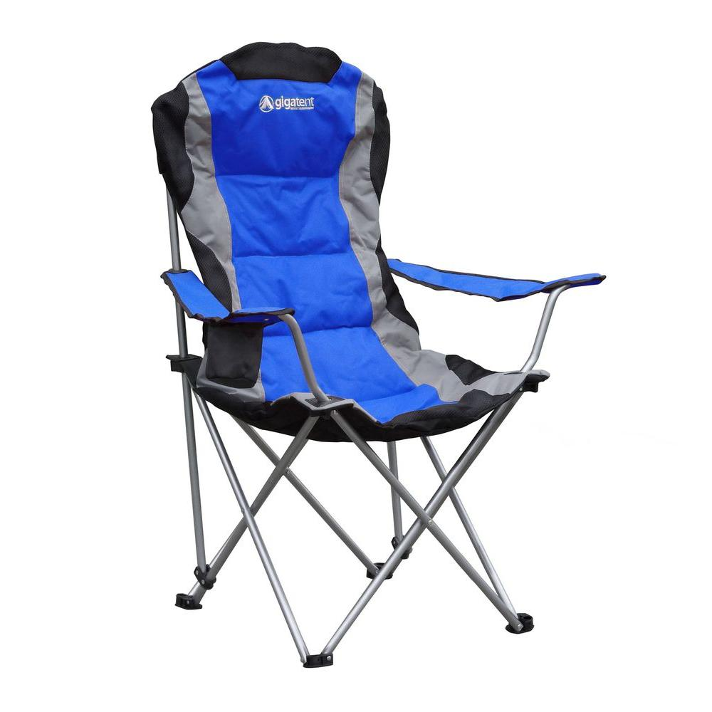 Gigatent Padded Camping Chair In Blue Cc004 The Home Depot