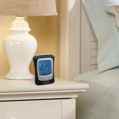 Black Travel Alarm Clock