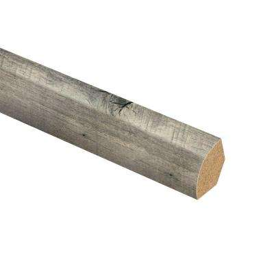 Cross Sawn Oak Grey 3/4 in. Thick x 5/8 in. Wide x 94 in. Length Laminate Quarter Round Molding