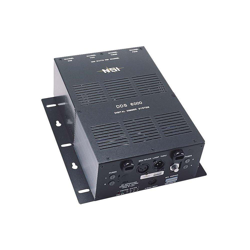 4-Channel 1200-Watt/Channel 4800-Watt Max Micro-Plex and 0-10-Volt Analog Standard Knockout 120-Volt, Black