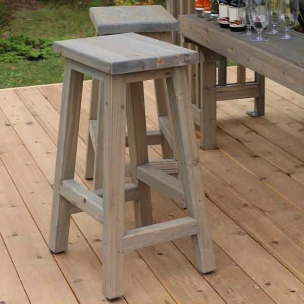 Yardistry Madison 29 In Saddle Wood Outdoor Bar Stool 2 Pack Yp11790 The Home Depot