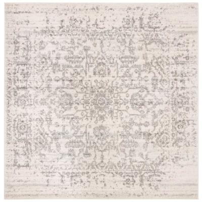 Madison Silver/Ivory 7 ft. x 7 ft. Square Area Rug