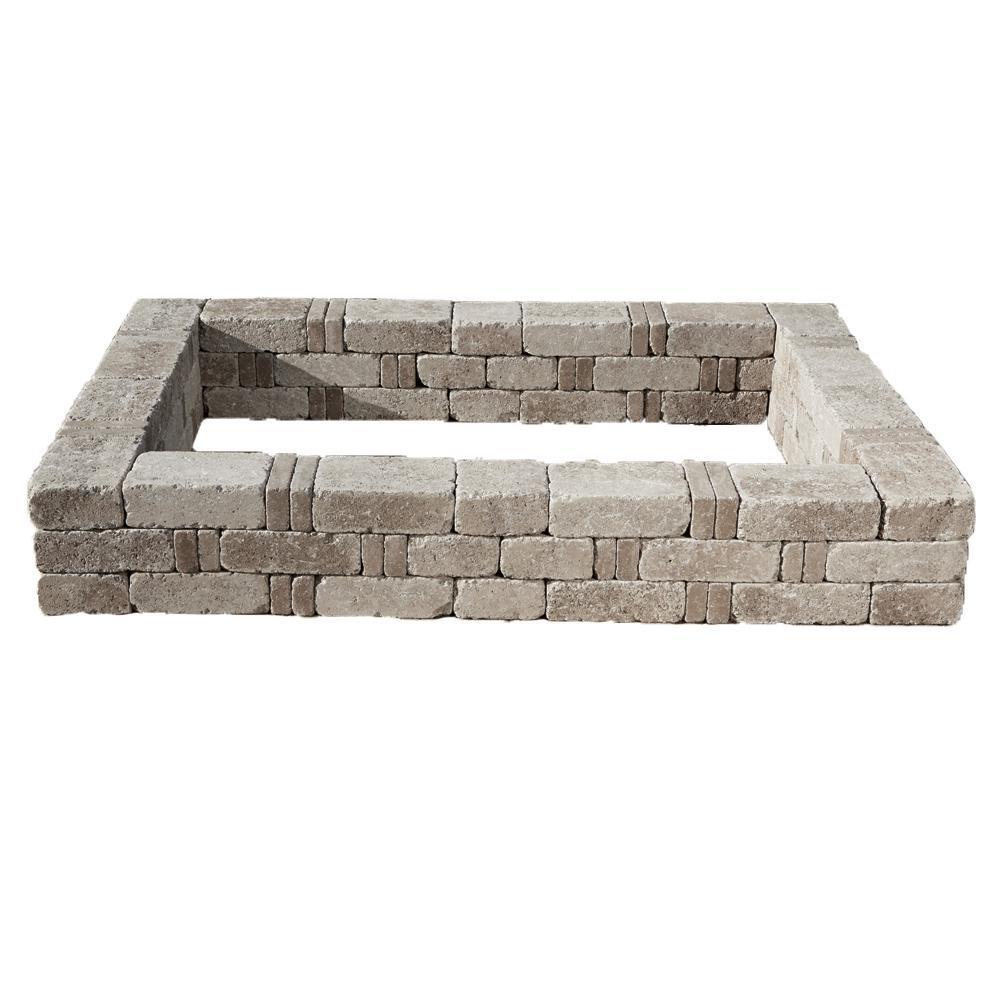 Pavestone RumbleStone 98 in. x 49 in. x 10.5 in. Greystone Concrete ...