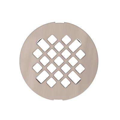 Metal Shower Floor Strainer in Brushed Nickel