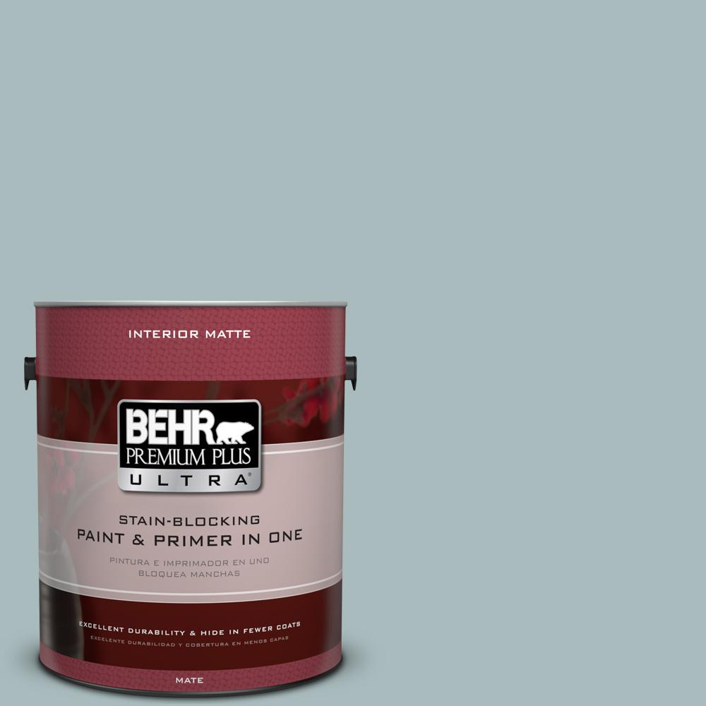 1 gal. #MQ6-4 Gray Wool Matte Interior Paint and Primer in