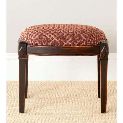 Lindy Dark Brown Vanity Stool