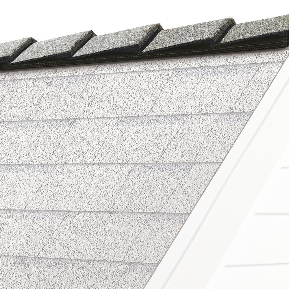 Owens Corning Decoridge 10 In Shasta White Hip And Ridge Asphalt Roofing Shingles 20 Linear Ft Per Bundle Dt12 The Home Depot