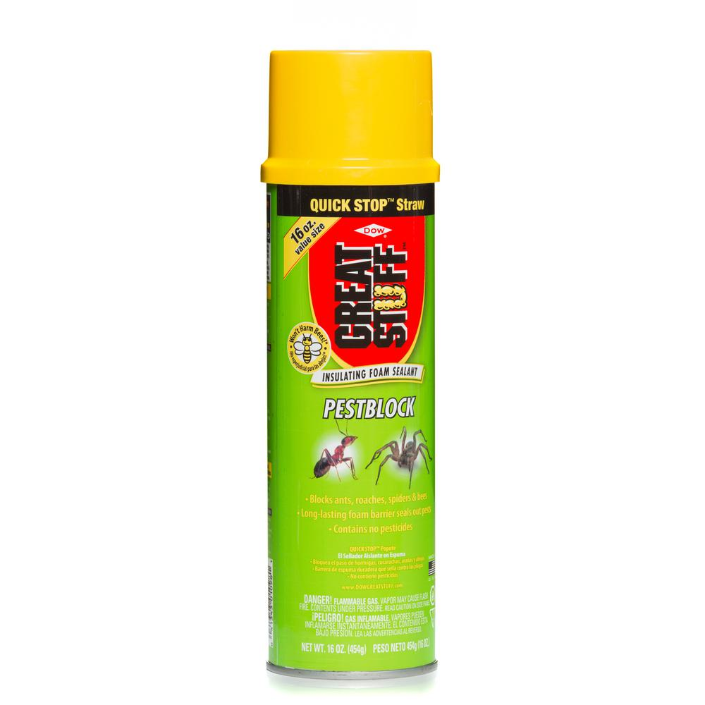 GREAT STUFF 16 oz  Pestblock Insulating Foam Sealant with Quick Stop Straw