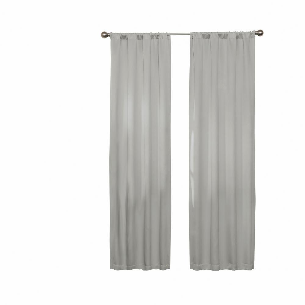 Darrell Blackout Window Curtain Panel in Grey - 37 in. W x 84 in. L