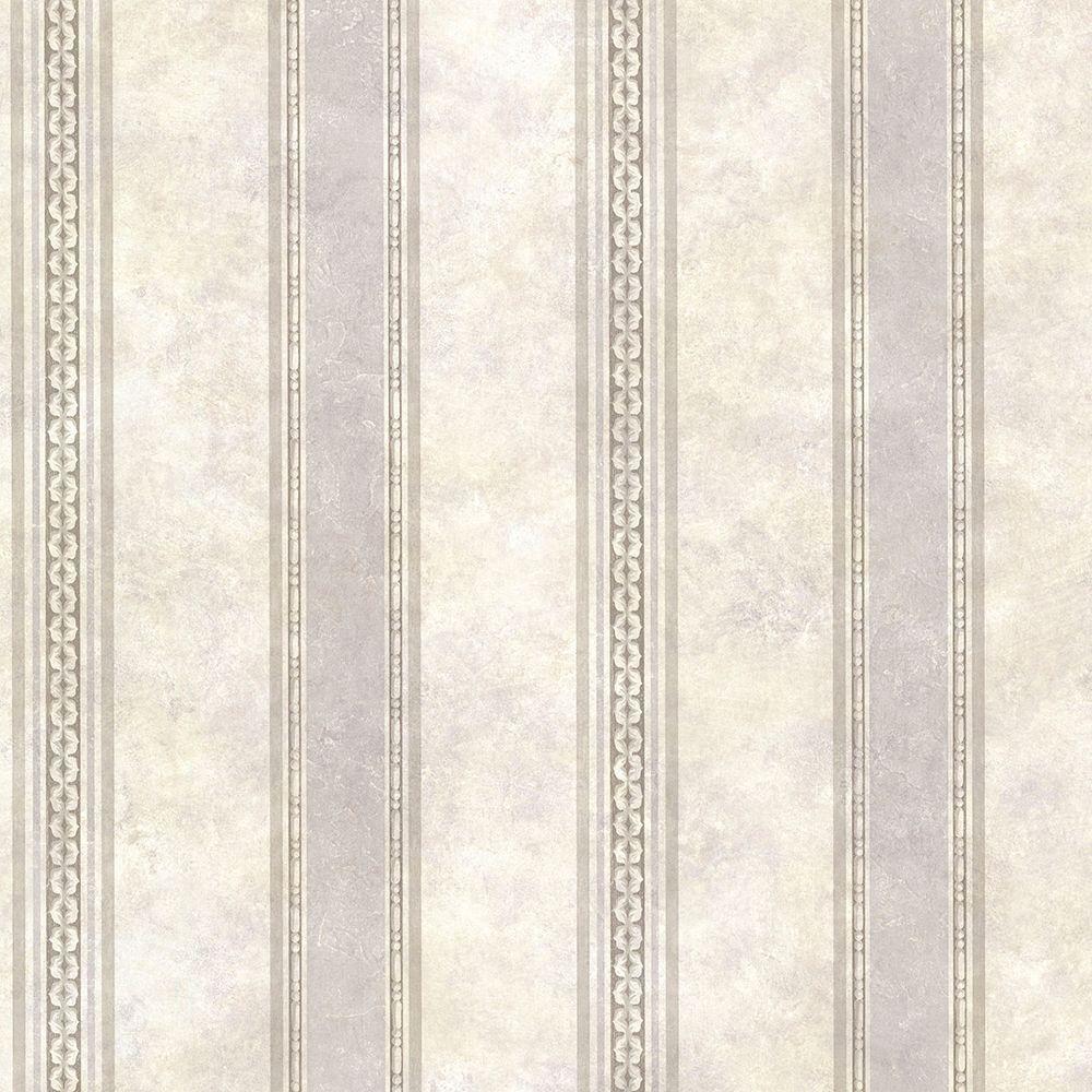 Castine Fog Tuscan Stripe Wallpaper