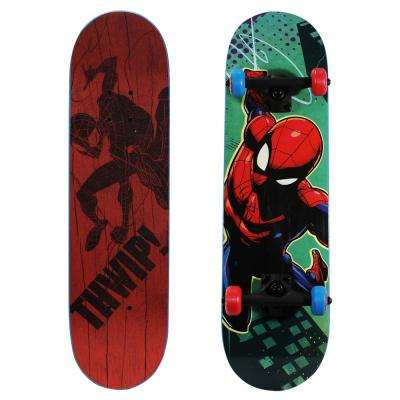 28 in. Ultimate Spider-Man Complete Skateboard in THWIP Graphic