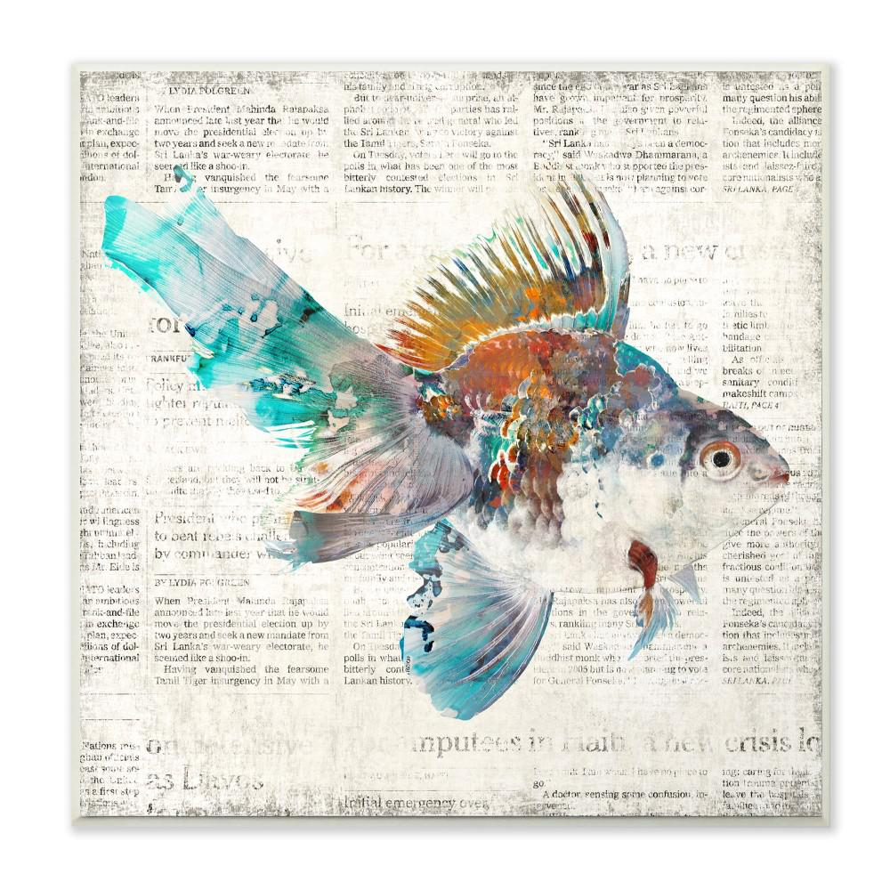 The Stupell Home Decor Collection 12 In X Multi Colored Goldfish