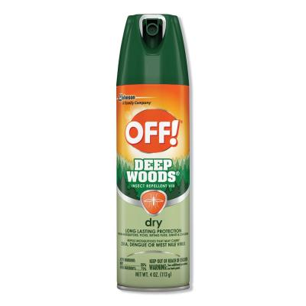 4 oz. Aerosol Deep Woods Dry Insect Repellent, Neutral, (12-Carton)