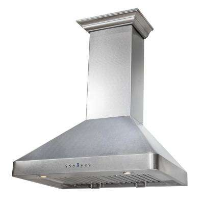 ZLINE 30 in. 900 CFM Wall Mount Range Hood in Snow Finished Stainless Steel