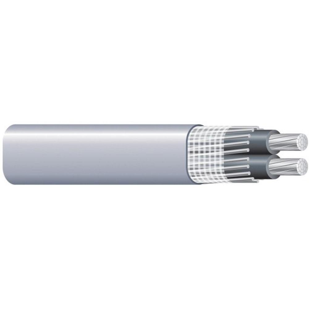 Southwire (By-the-Foot) 4/0-4/0-2/0 Gray Stranded AL SEU Cable