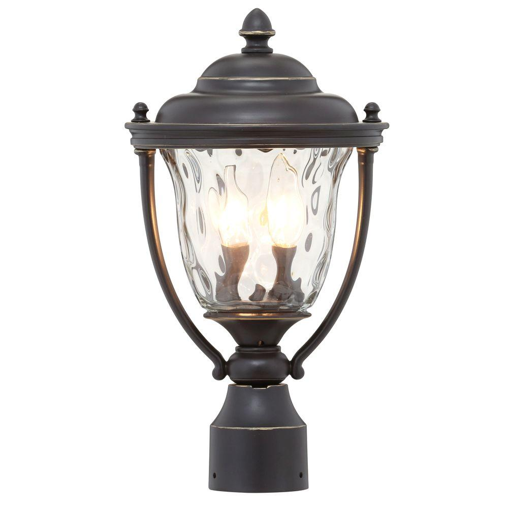 Progress Lighting Prestwick Collection 2-Light Oil-Rubbed Bronze Outdoor Post Lantern