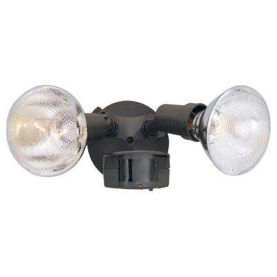Area and Security 2-Light Distressed Bronze Outdoor Incandescent Security Light with Motion Detectors