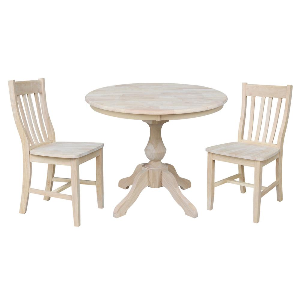 International Concepts Sophia Ready 36 In Round Solid Wood Dining Table Set