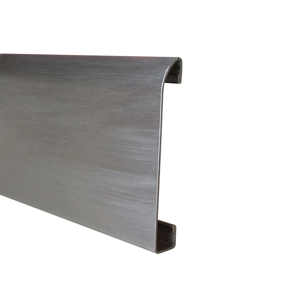 Emac Novorodapie Stainless Steel Brushed 2-3/8 in. x 78 in. Tile Edging Trim