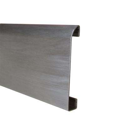Novorodapie Stainless Steel Brushed 2-3/8 in. x 78 in. Tile Edging Trim