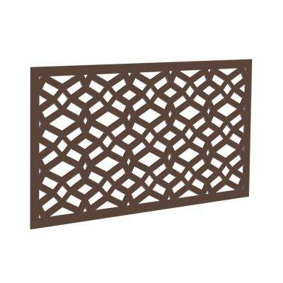 4 ft. x 2 ft. Brazilian Walnut Celtic Polymer Decorative Screen Panel